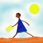 La bambina con la tanica gialla